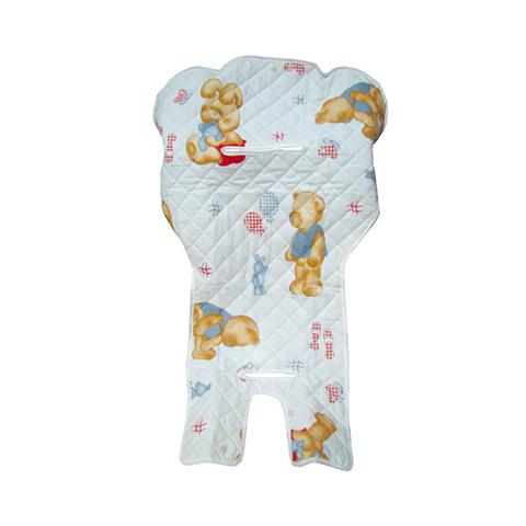 Accessori per la pappa - Copri seggiolone trapuntato universale bianco orsi by Tecno Baby
