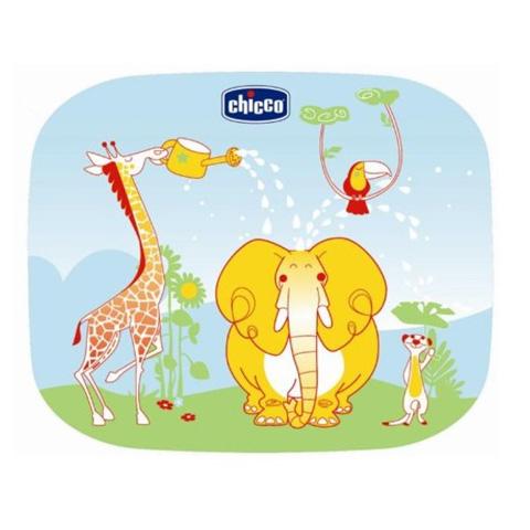 Accessori per il viaggio del bambino - 2 tendine parasole Giungla 3196 by Chicco