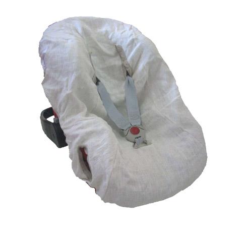 Accessori per il viaggio del bambino - Copriovetto in lino bianco LTA921 - LTA927 by Terra e Albero