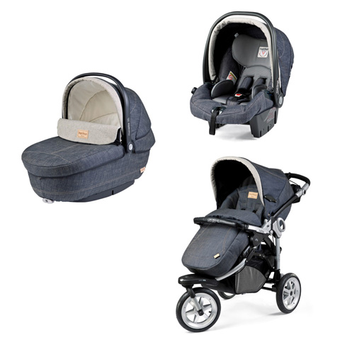 passeggino trio gt 3 completo naked modular system tri fix peg perego denim ebay. Black Bedroom Furniture Sets. Home Design Ideas