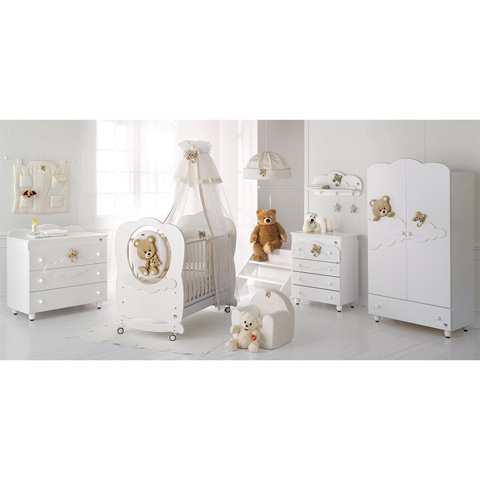 Camerette complete - Collezione Abbracci by Trudi Bianco by Baby Expert