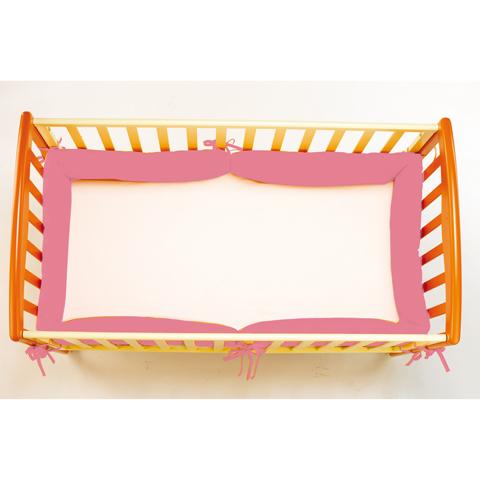 Coperte, lenzuolini e paracolpi - Paracolpi per lettino Tuttintorno 01 rosa by Picci