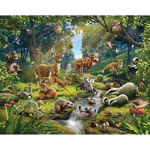 Complementi e decori - Animali della Foresta - poster murale 12 pannelli ANIMALS OF THE FOREST [43060] by Walltastic