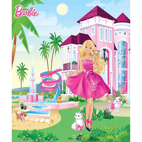 Complementi e decori - La Villa di Barbie - poster murale 8 pannelli BARBIE PINK PALACE [42971] by Walltastic