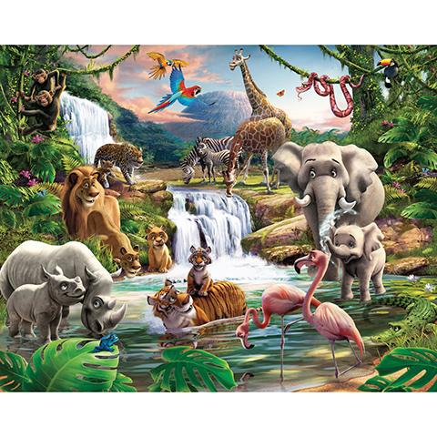 Complementi e decori - Giungla selvaggia - poster murale 12 pannelli JUNGLE ADVENTURE [41776] by Walltastic