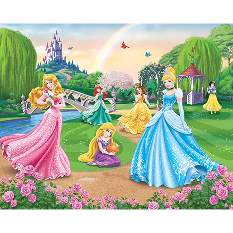 Walltastic Principesse Disney - adesivo murale 12 pannelli