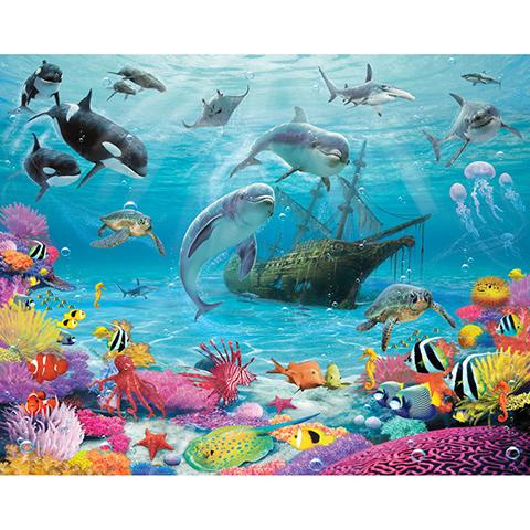 Complementi e decori - Oceano misterioso - poster murale 12 pannelli SEA ADVENTURE [43190] by Walltastic