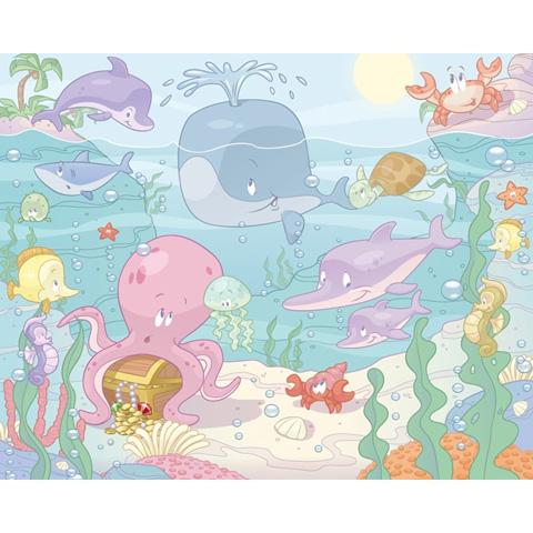 Complementi e decori - Baby Animali Marini - poster murale 12 pannelli L313.ANIM [40625] by Walltastic