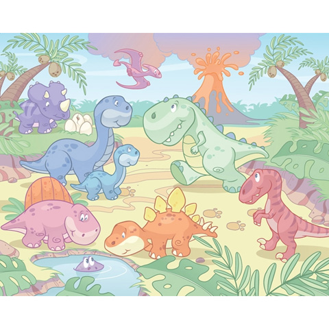 Complementi e decori - Baby Dinosauri - poster murale 12 pannelli BABY DINO WORLD [40618] by Walltastic