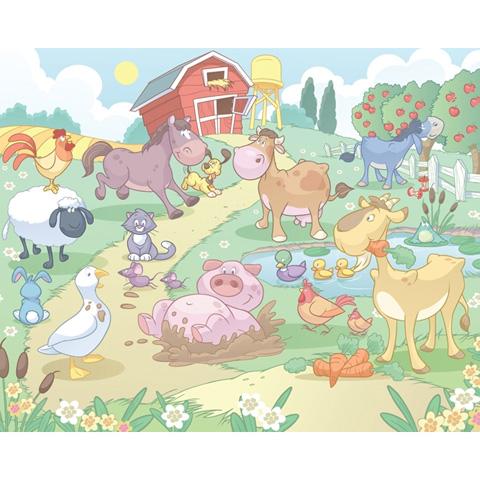 Complementi e decori - Baby fattoria - poster murale 12 pannelli BABY FUN OF THE FARM [40601] by Walltastic