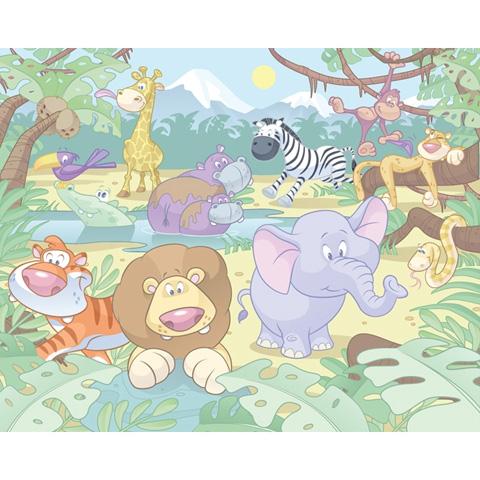 Complementi e decori - Baby Giungla - poster murale 12 pannelli BABY JUNGLE SAFARI [40595] by Walltastic
