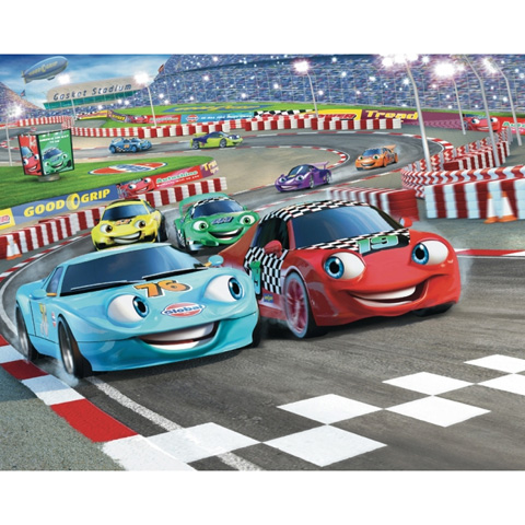 Complementi e decori - Testa a testa - poster murale 12 pannelli CAR RACERS [40106] by Walltastic