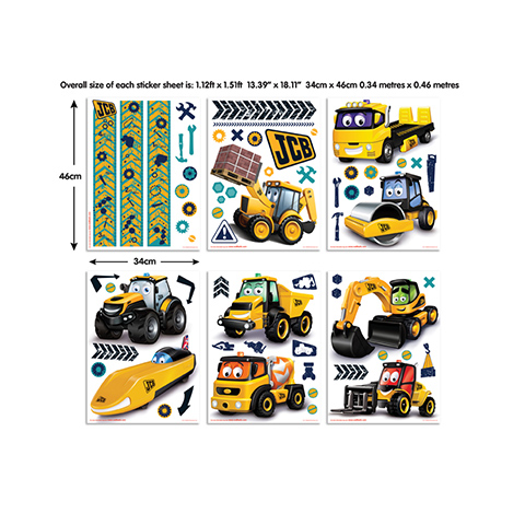 Adhesif mural stickers muraux chambre enfant my first jcb - Stickers muraux decollable ...