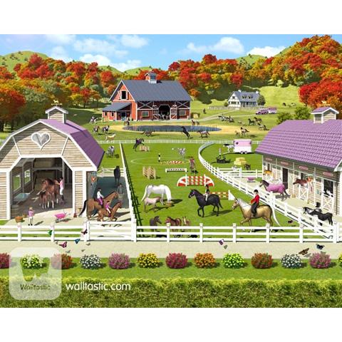 Complementi e decori - Concorso di equitazione - poster murale 12 pannelli HORSE AND PONY STABLES [40113] by Walltastic
