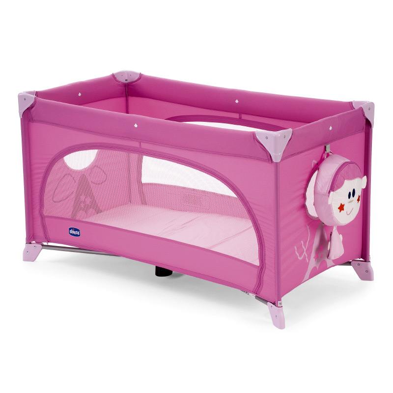 babyreisebett kinderbett klappbett babybett reisebett chicco easy sleep 17 rosa ebay. Black Bedroom Furniture Sets. Home Design Ideas