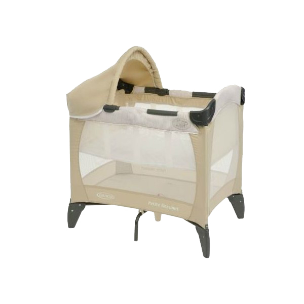 babyreisebett kinderbett kinder reisebett graco petite bassinet benny bell ebay. Black Bedroom Furniture Sets. Home Design Ideas