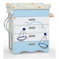 Cassettiere fasciatoio - NCR arredo baby Bagnetto Zodiaco Bilancia con estrazione laterale