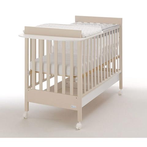 Homy Baby Space Avana - Fasciatoio e Culla Riduttore Bianco/Avana Azzurra  Design Avana - Fasciatoio e Culla Riduttore Bianco/Avana
