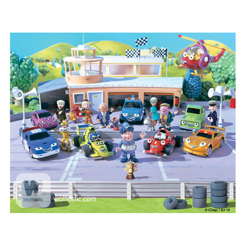 Macchinine da corsa - poster murale 12 pannelli ROARY THE RACING CAR  [40281] Walltastic ROARY THE RACING CAR [40281]